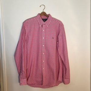 Red Checkered Button Down from Polo (M)